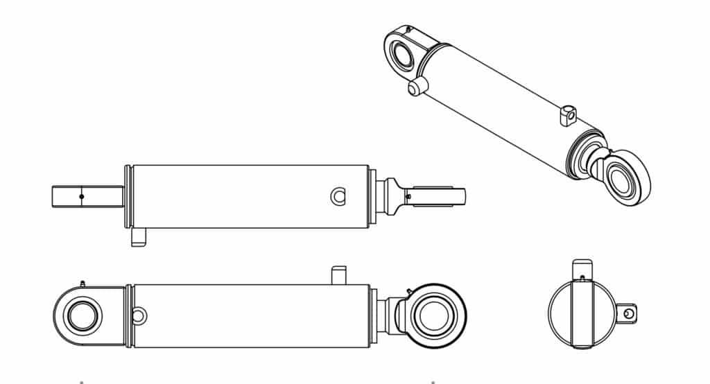 fg CQ2865 3 x 1.75 x 247 Ram Drawing